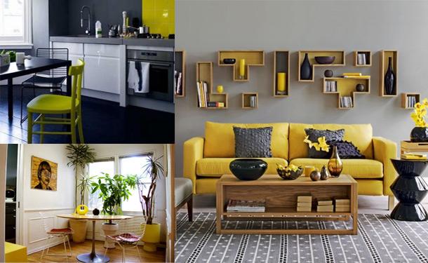 Decoração de casa com tons de amarelo