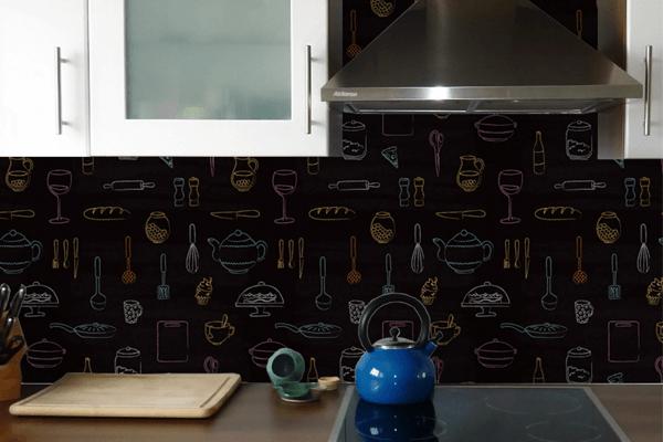 Papel de parede na decoração da sua cozinha