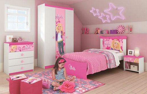 Quarto meninas Barbie