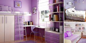 Quartos com decoração lilás