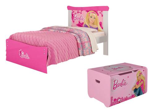 itens quarto Barbie