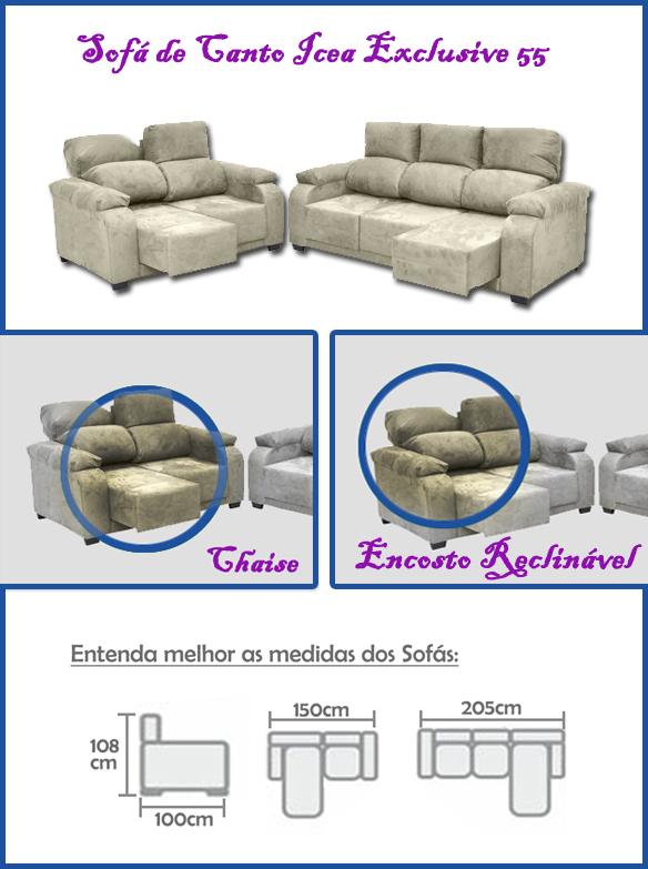 Sofá de Canto - Ice Exclusive 55