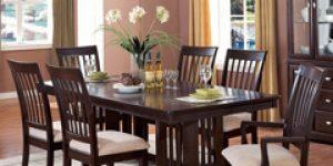Mesa de jantar na sala