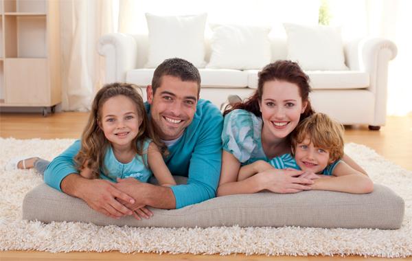 familia na sala