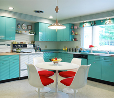 Cozinha azul - colorida