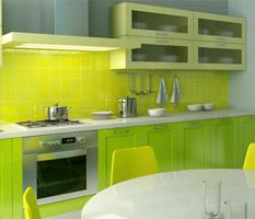 Cozinha verde - colorida