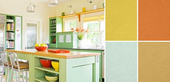 Cozinhas coloridas - Opções