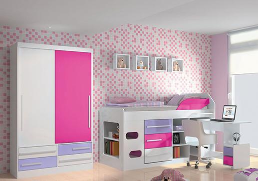 Móveis para quarto infantil completo - Meninas