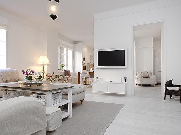 Sala de estar - Decoração branca