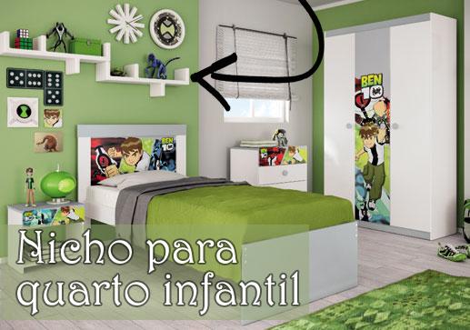 Nicho para quarto infantil meninos