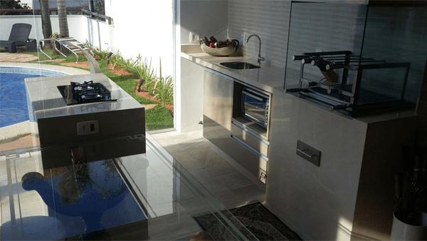 cozinha cooktop na ilha