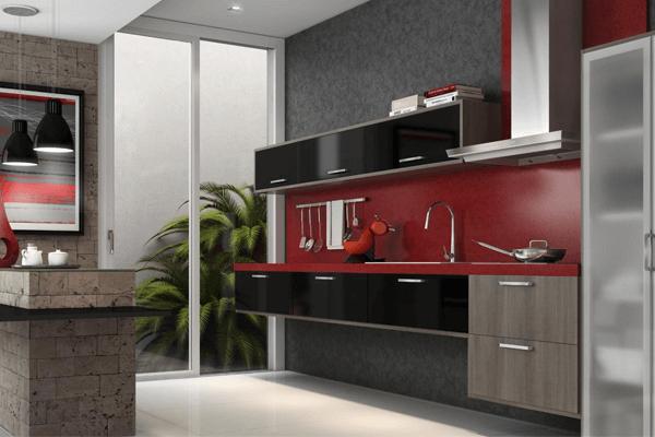 3 - Cozinha com móveis modulados