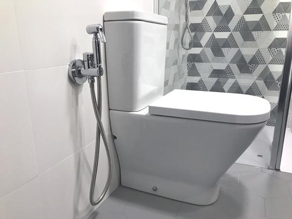Vaso sanitário com uma ducha higiênica