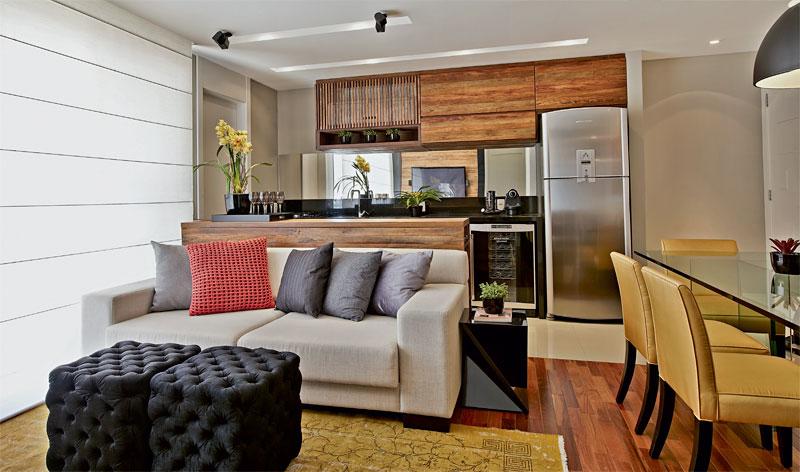 cozinha americana integrada sala