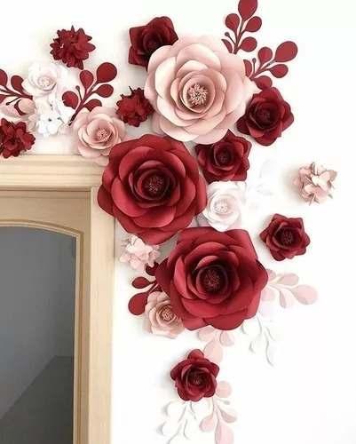 decoração com flor de papel