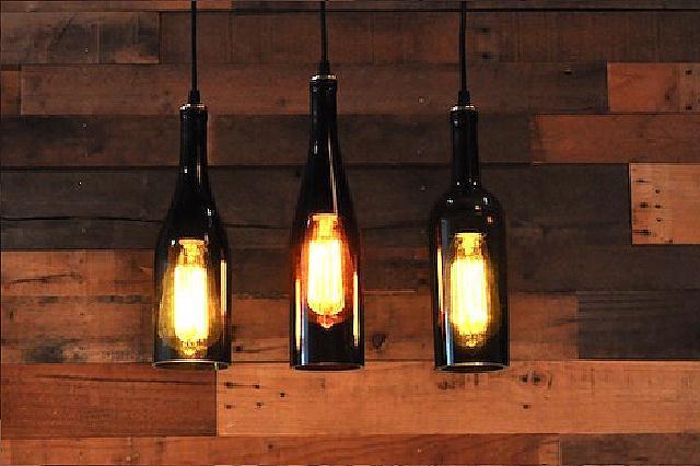 luminária garrafa