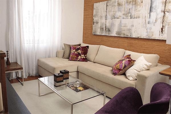 modelo de sofá em L