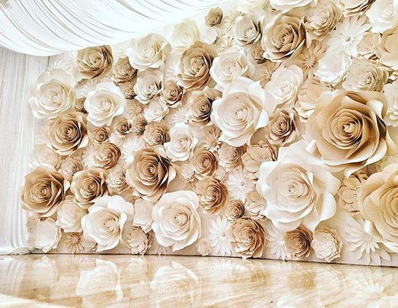 flor de papel para decorar a casa