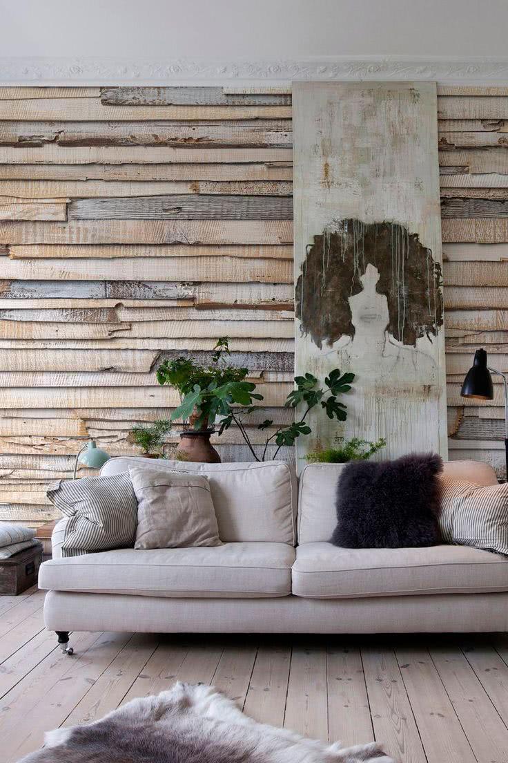parede com madeira