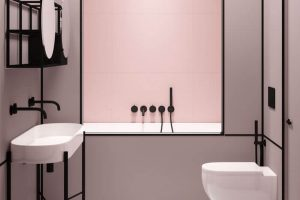 banheiro rosa milenal