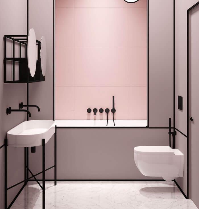 banheiro rosa milenar