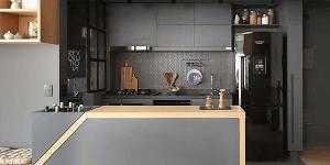 Cozinha com bar