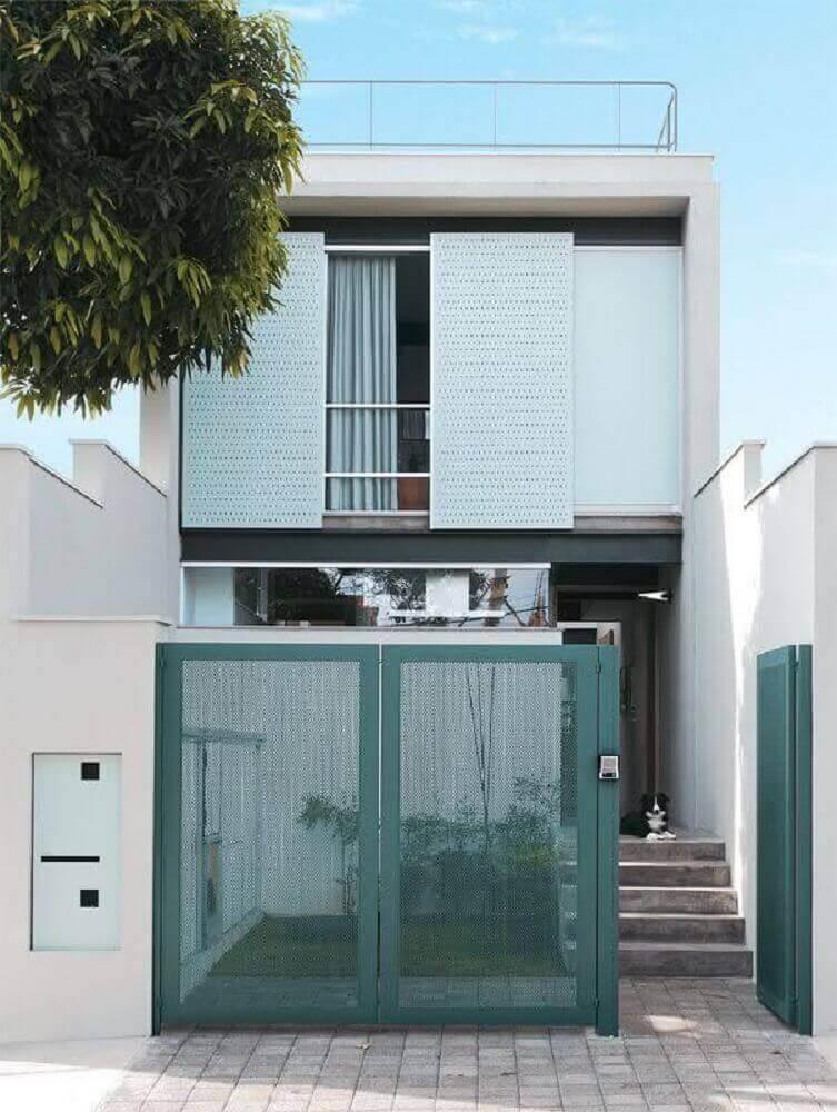 fachada de casa pequena