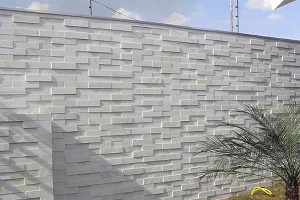Muro com revestimento