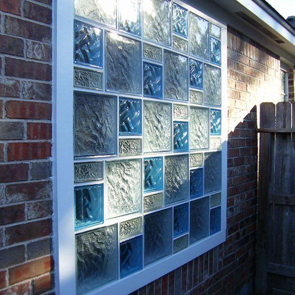 janela de bloco de vidro