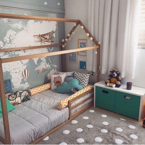cama montessoriana com grade