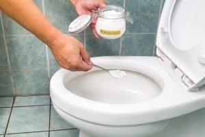 bicarbonato de sódio em vaso sanitário