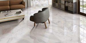 piso de granito em sala