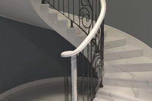 escada de mármore branco