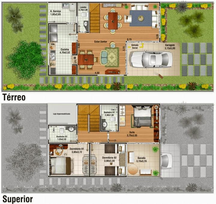 planta de casa duplex