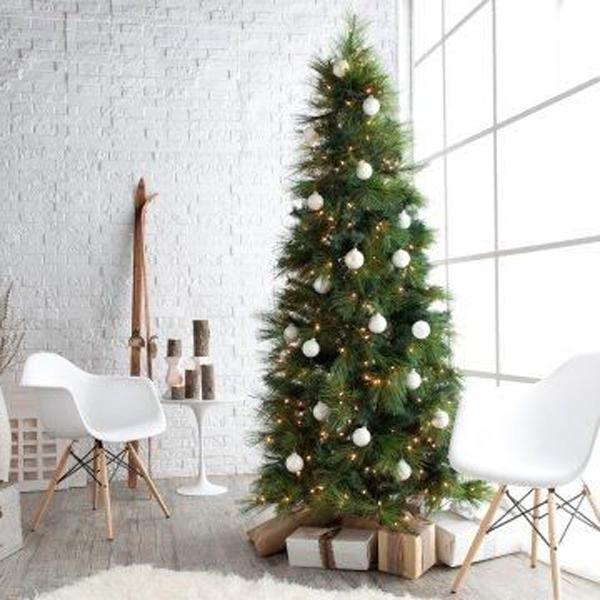 árvore de natal de estilo minimalista