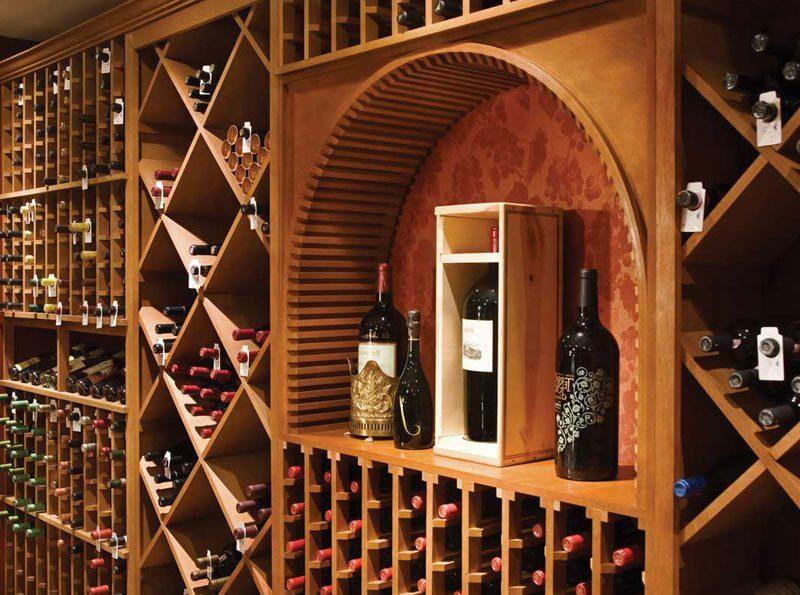 vinhos em adega