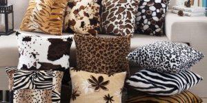 almofadas de várias estampas