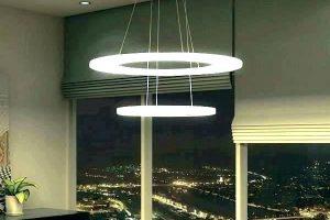 luminária de led pendente