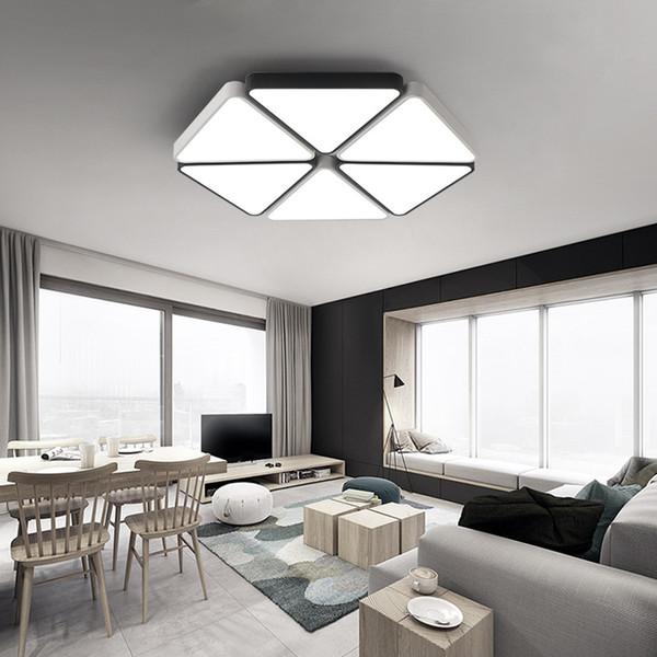 luminária de led em salas integradas