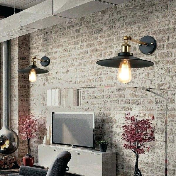 luminárias de parede em sala de estar