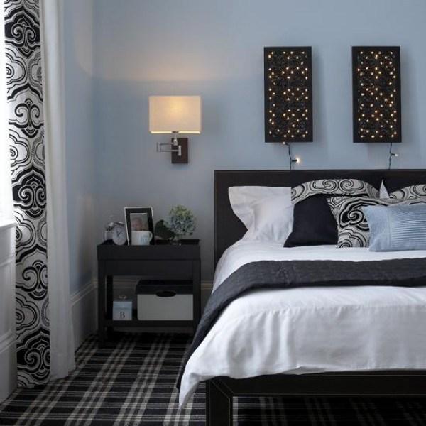 luminária de parede em quarto