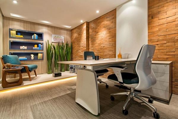 piso vinílico em escritório