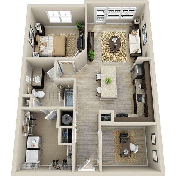planta de casa em 3D