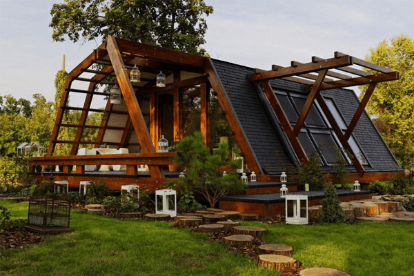 casa de madeira ecológica