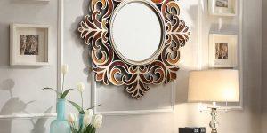espelho com moldura rococó