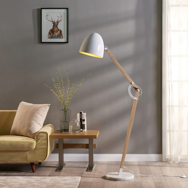 luminária de chão articulada