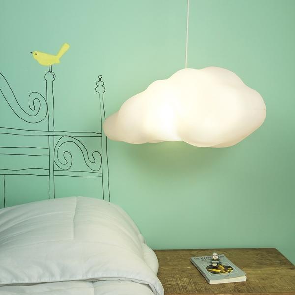 luminária infantil pendente formato de nuvem
