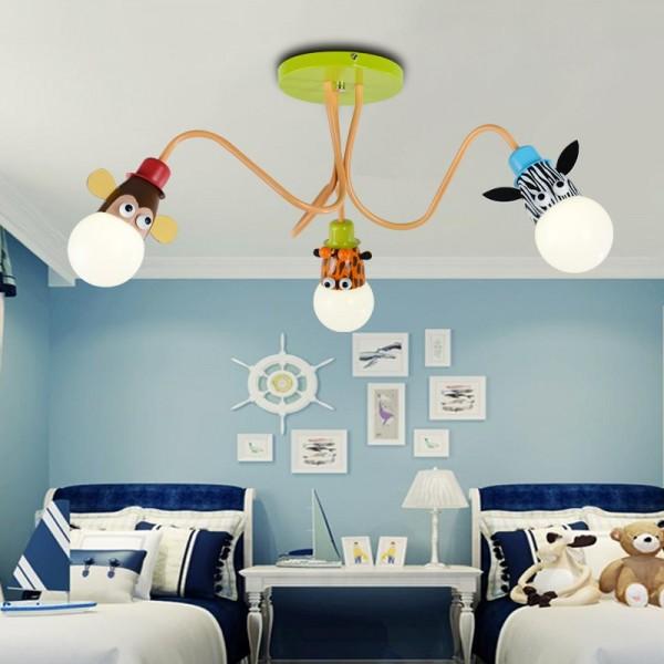 luminária de teto de três bocais