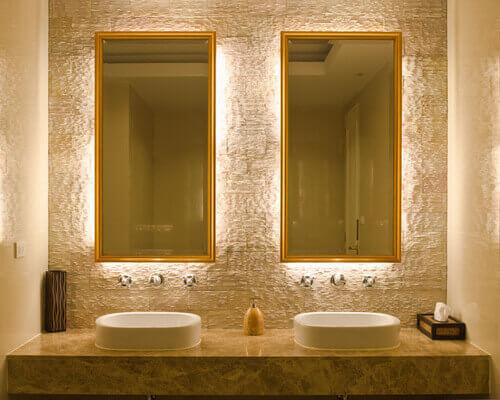 Espelho no banheiro: modelos, tipos e como utilizar!