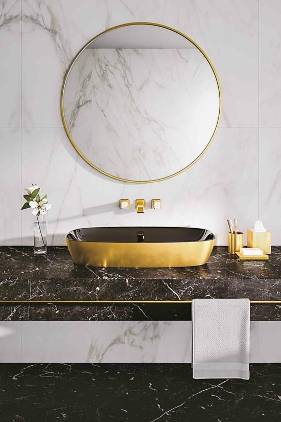 banheiro com mármore 2020